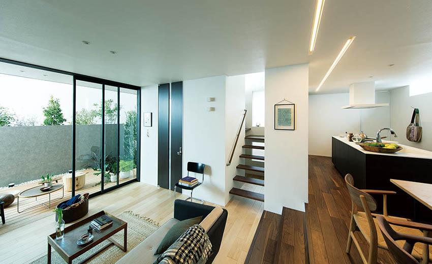 現代チックな家の内観