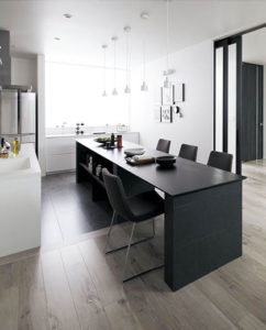 現代チックな家のキッチン